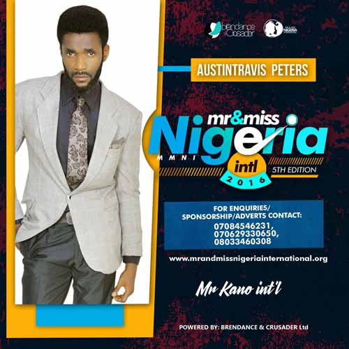Austin Travis Peters, Finalists, Mr And Miss Nigeria International Pageant 2016