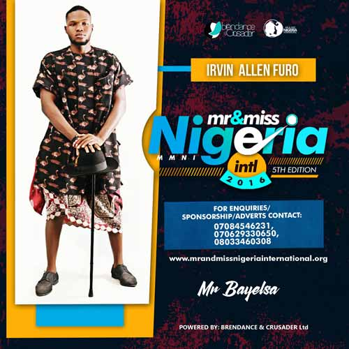 Irvin Allenfuro, Finalists, Mr And Miss Nigeria International Pageant 2016