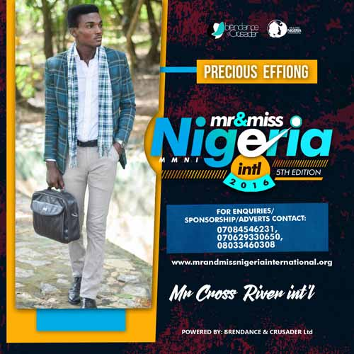 Precious Effiong, Finalists, Mr And Miss Nigeria International Pageant 2016