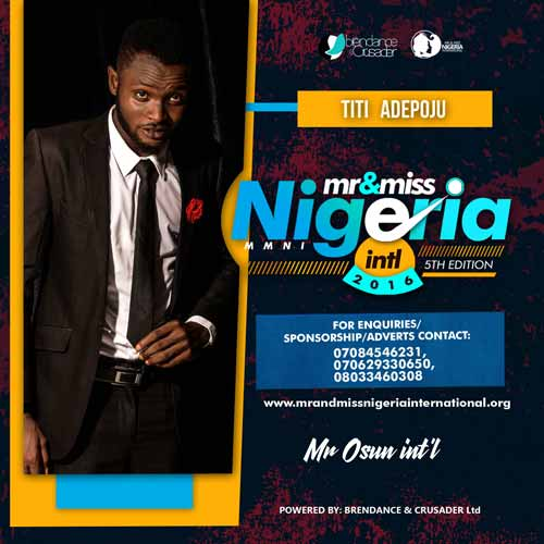 Titi Adepoju, Finalists, Mr And Miss Nigeria International Pageant 2016