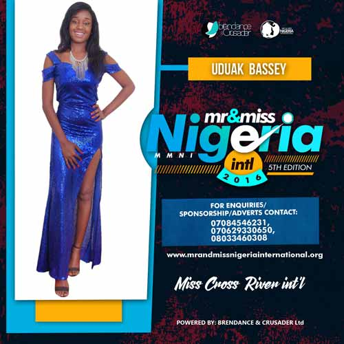Uduak Bassey, Finalists, Mr And Miss Nigeria International Pageant 2016
