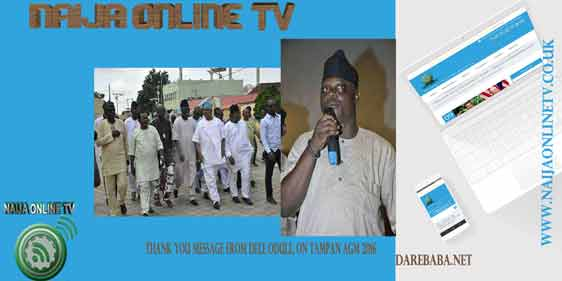 THANK YOU MESSAGE FROM DELE ODULE, ON TAMPAN AGM 2016