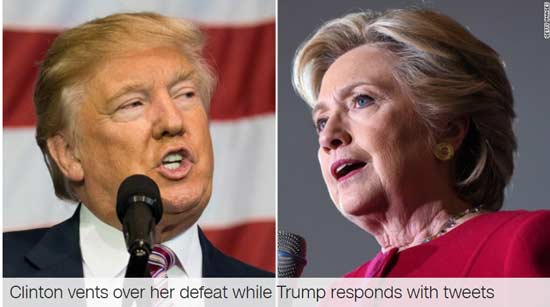 Hillary Clinton on Russian Intervention in election, Trump tweets back!