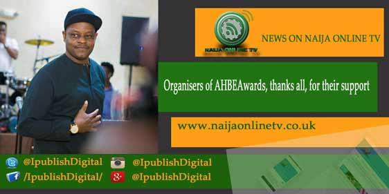 Organisers of AHBEAwards, thanks all, for their support