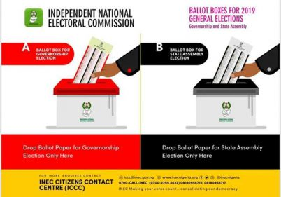 INEC Demonstrates How To Properly Handle Your Ballot Paper After Voting