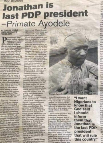 Primate Ayodele And The Fuss Over His 2013 Prophecy