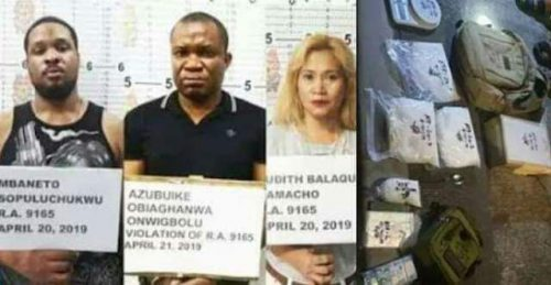 Two Nigerians Face Death Sentence In Philippines For Drug Trafficking