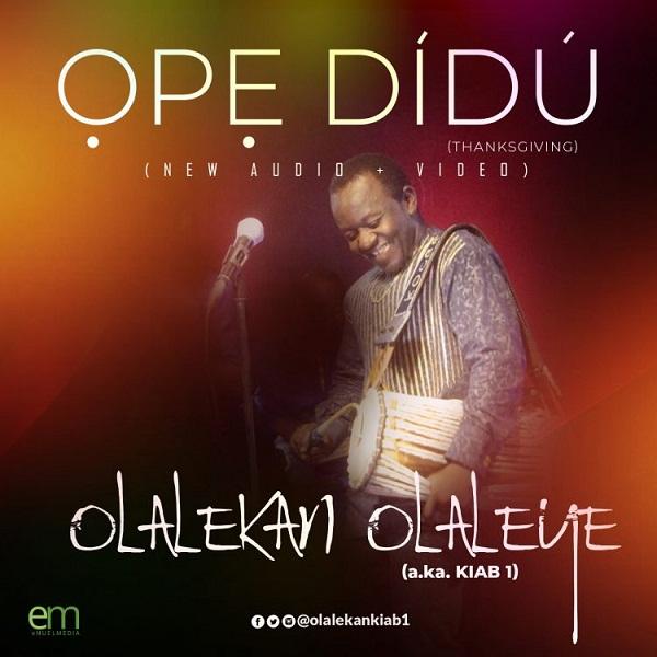 DOWNLOAD AUDIO: Olaleye Olalekan – Ope Didu