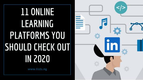 11 Online Learning Platforms You should Check Out in 2020 1