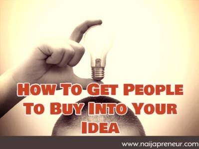 Selling your idea