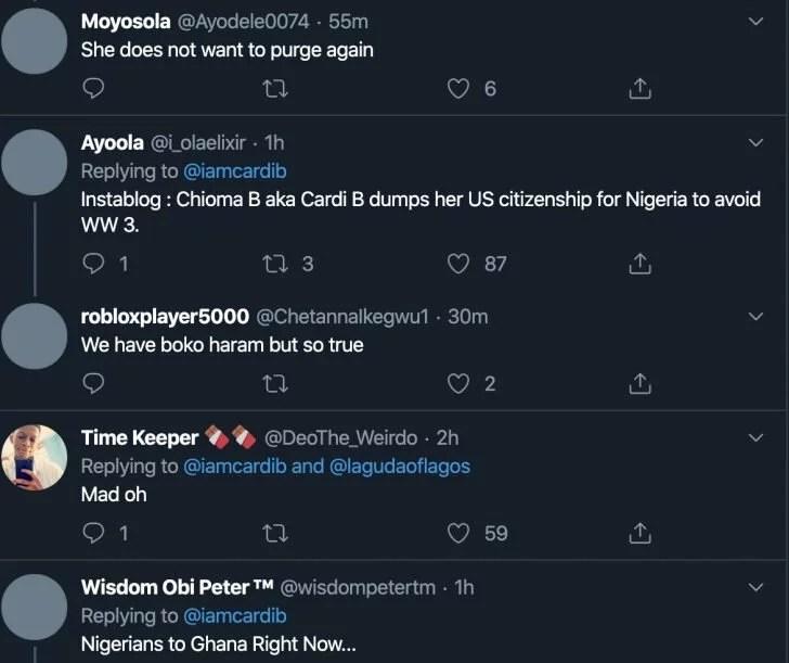 American Rapper, Cardi B Is Filing For Nigerian Citizenship