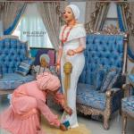 See The Dress Ooni of Ife's Wife Rocked To Her Son Naming Ceremony (Photo)