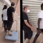 Black Men Confronts White Man Who Ordered His Black Worker To Carry Him On A Trolley (Video)