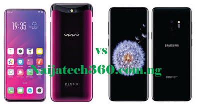 Oppo Find X vs Samsung Galaxy S9 Plus