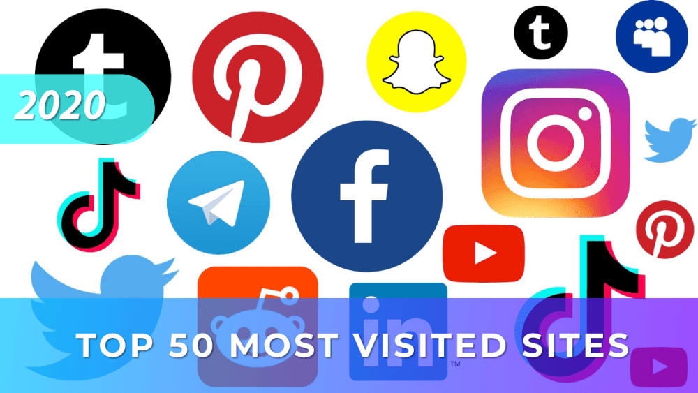 Top 50 most visited sites in 2020 45