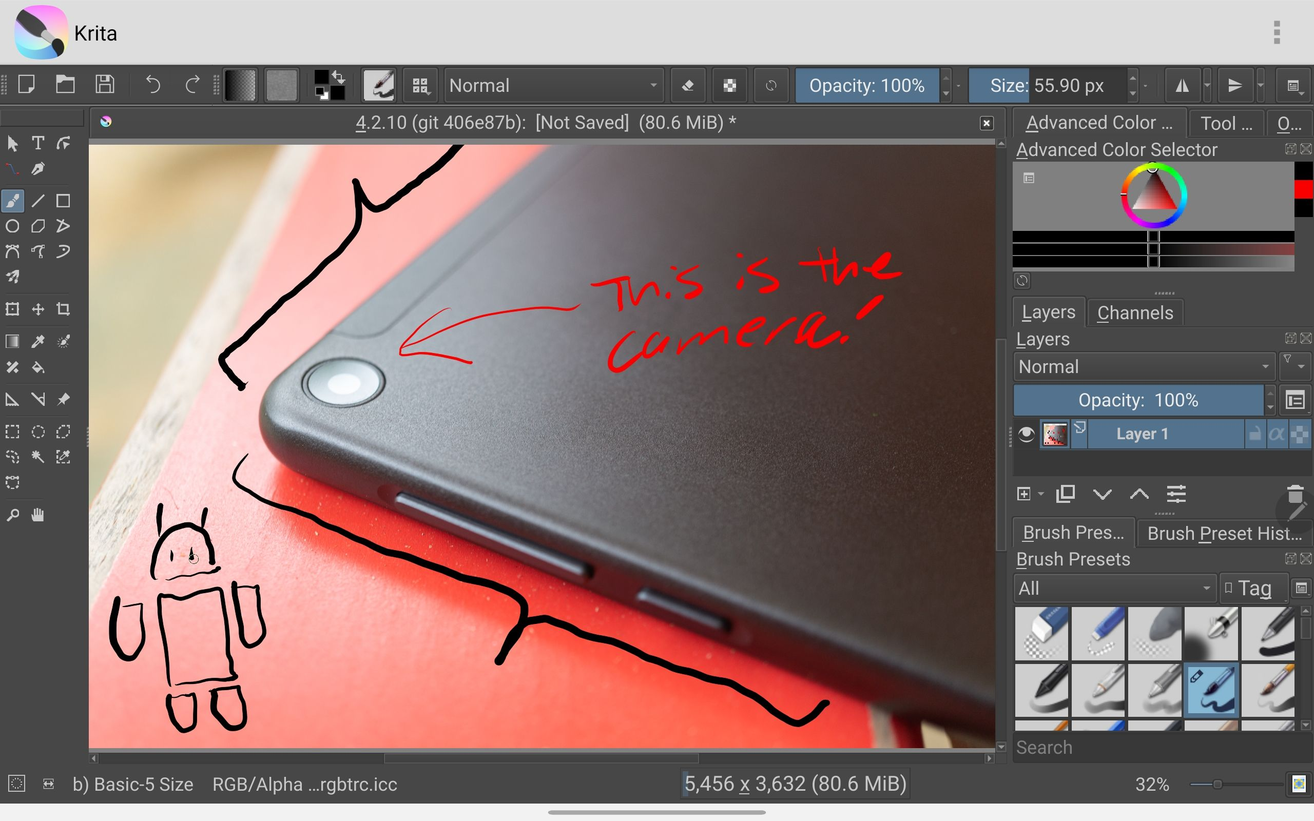 Krita, a desktop-based digital painting app, now available on Android and Chrome OS 1