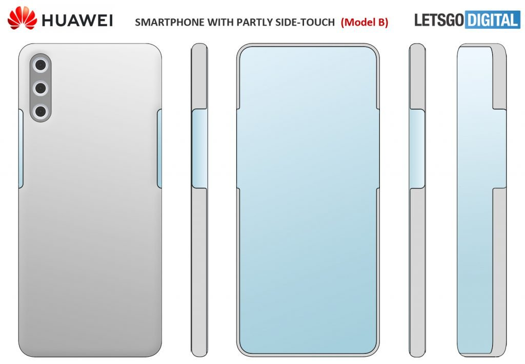 Huawei patents a smartphone with an under-display selfie camera lens 1