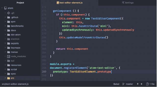 Atom - Best open source IDE/text editor