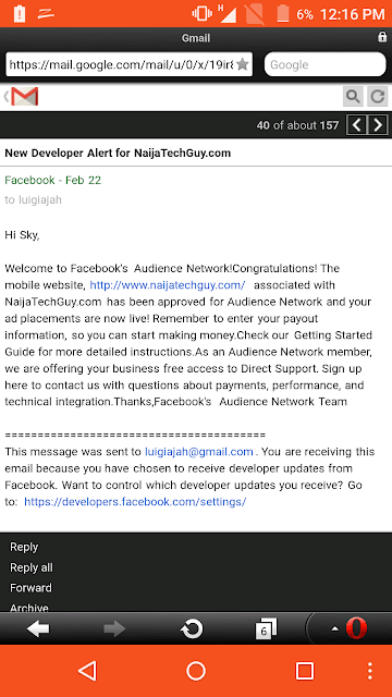 Naijatechguy Approved To Run Facebook Ads 1