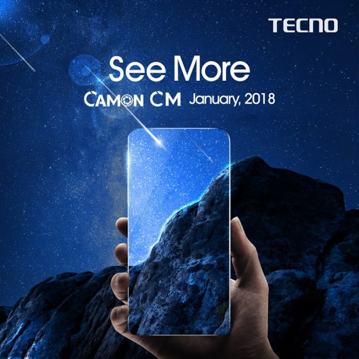 Tecno Drops Teaser Images For The Tecno Camon CM - It May Come With A Full View Display 2