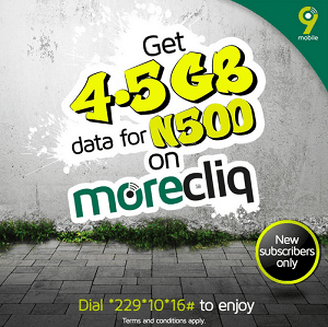 9Mobile is Offering 4.5GB For N500 - See How To Subscribe 2