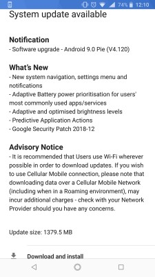 Nokia 8 Sirocco finally getting the Android 9 Pie update 2