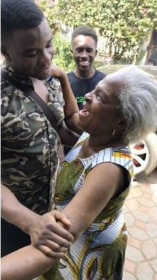 "D03FCFE0 4934 4222 98B5 55871F4E0C45 169x300 - ENTERTAINMENT: 9years Away! Michael ""Big Shaq"" Dapaah visits his Nana in Ghana"