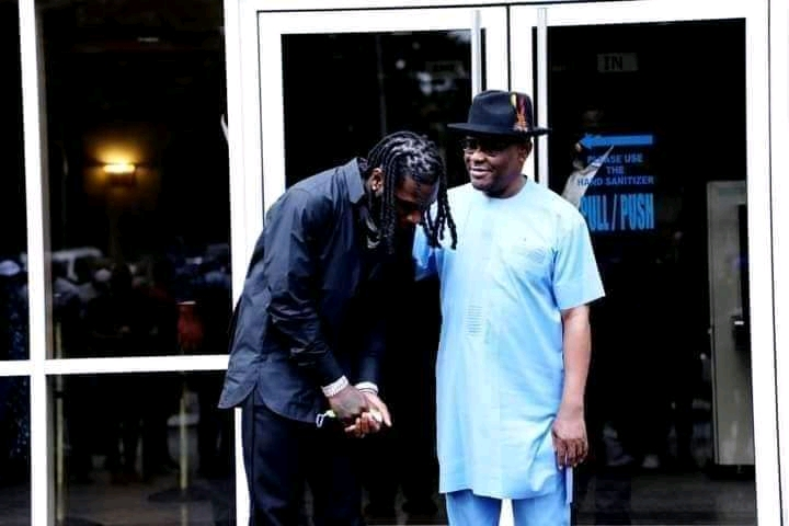 "FB IMG 16168771687579045 - Rivers State Governor Nyesom Wike Real Name Grammy Awards winning Burna Boy ""Damini Ogulu""  & proud of him (See Photos)"