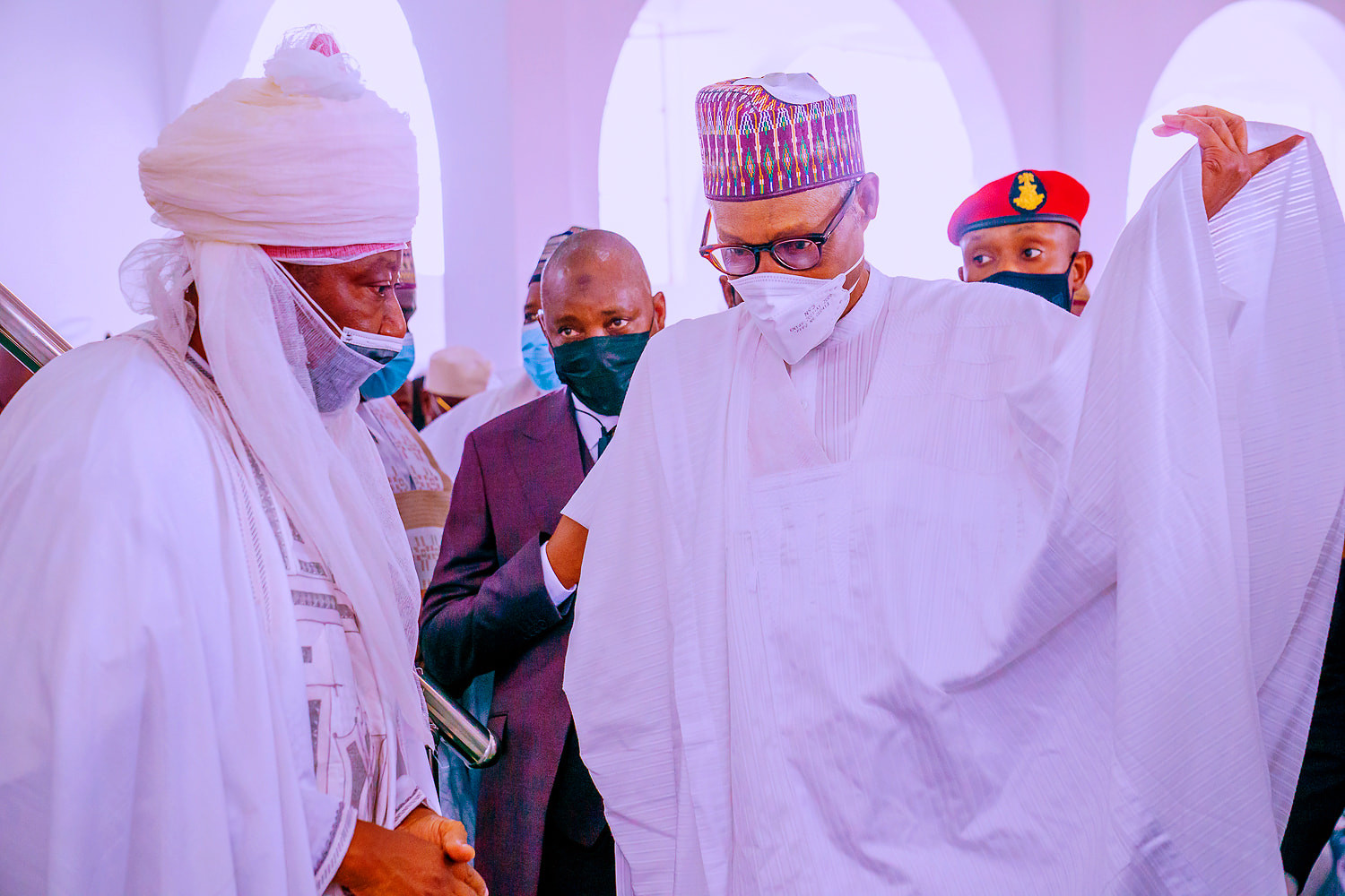 611ffee53af34 - More photos of dignitaries at the wedding of President Buhari's son, Yusuf