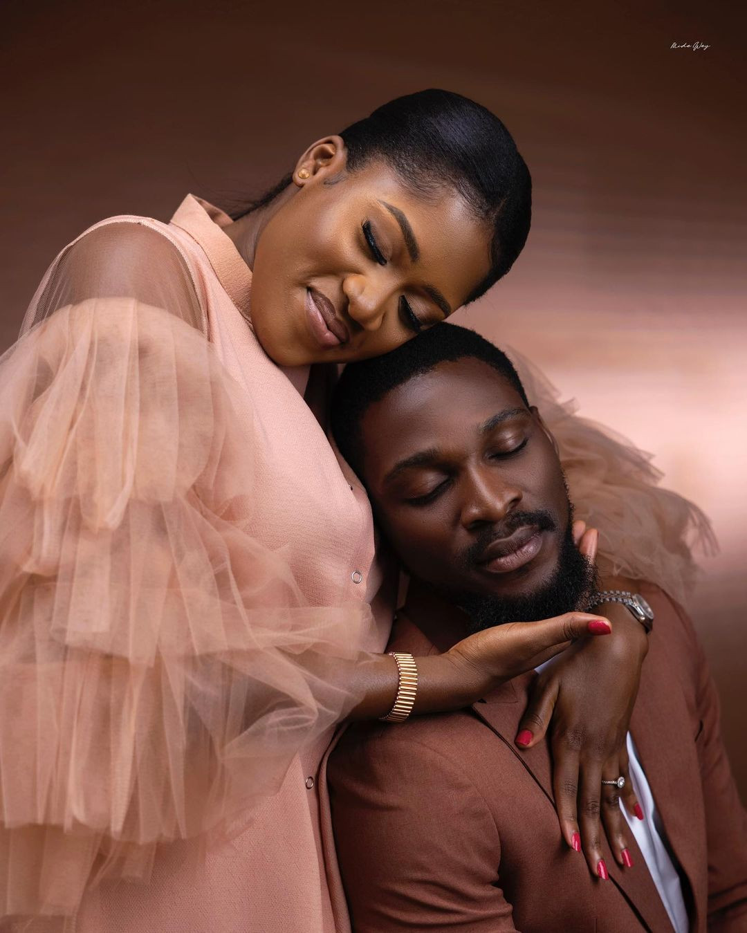61209c4dba183 - ''I prayed and you came'' Tobi Bakare, gushes over his bride-to-be as he shares more pre-wedding photos