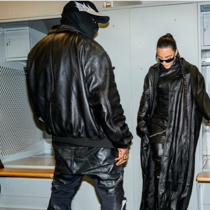 Kim Kardashian pictured getting cozy with Kanye West backstage at his Donda listening party (photos)