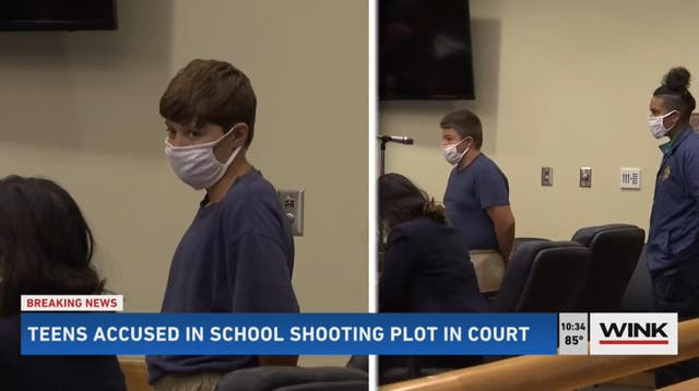 ?Two teenage boys accused of plotting to carry out mass school shooting appear in court