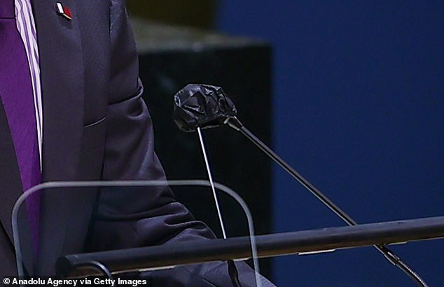 President Joe Biden and other world leaders are given microphone