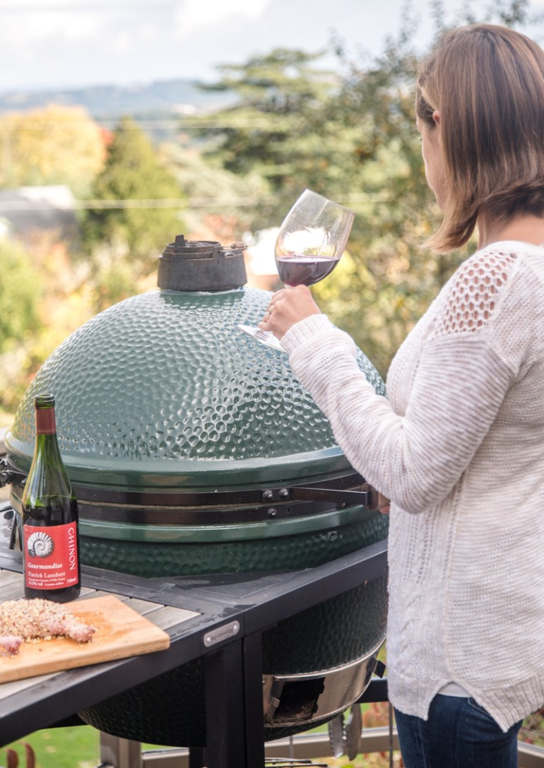 Preparing to Grill on the Big Green Egg