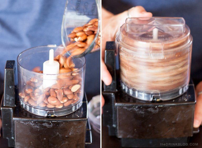 grind almonds in food processor