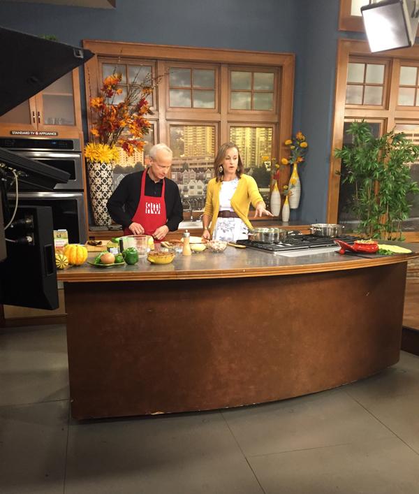 Cooking demo on AM Northwest