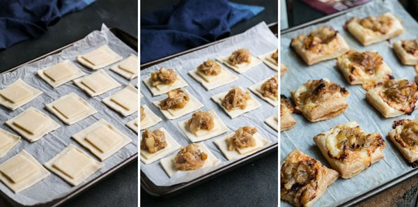 step by step photos for making puff pastry tartlets