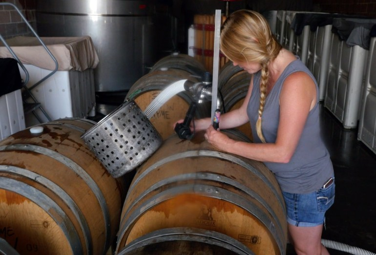 What is wine racking