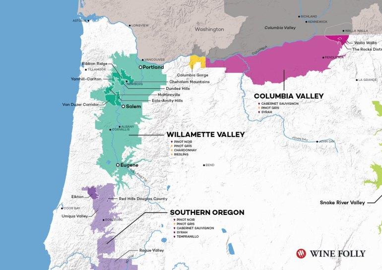 Van Duzer Corridor - Oregon Wine Map by Wine Folly