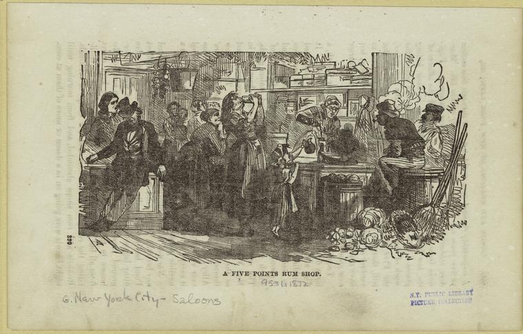 A Five Points Rum Shop, 1872