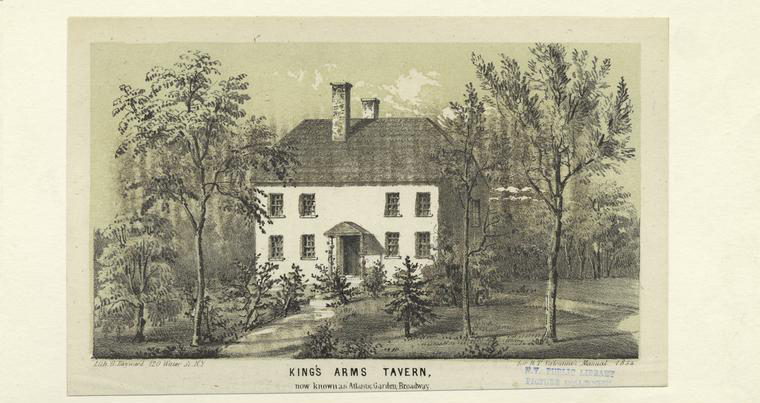 King's Arms Tavern, Now Known As Atlantic Garden, 50 Bowery, 1854