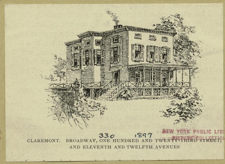 Claremont Tavern, 123rd Street between 11th and 12th Avenues, 19th Century