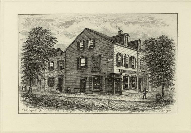 Old Grapevine Tavern, 11th Street & 6th Avenue, 1851.