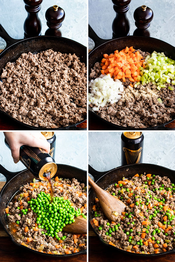 pictures showing how to make the shepherds pie