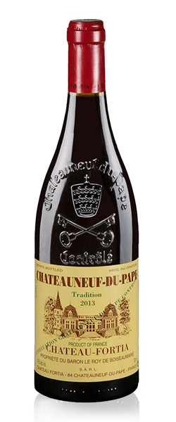 Image of a bottle Chateau Fortia Chateauneuf-du-Pape wine