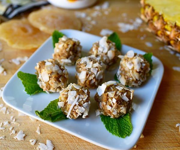 Vanilla Shakeology Macadamia Nut Pineapple Balls