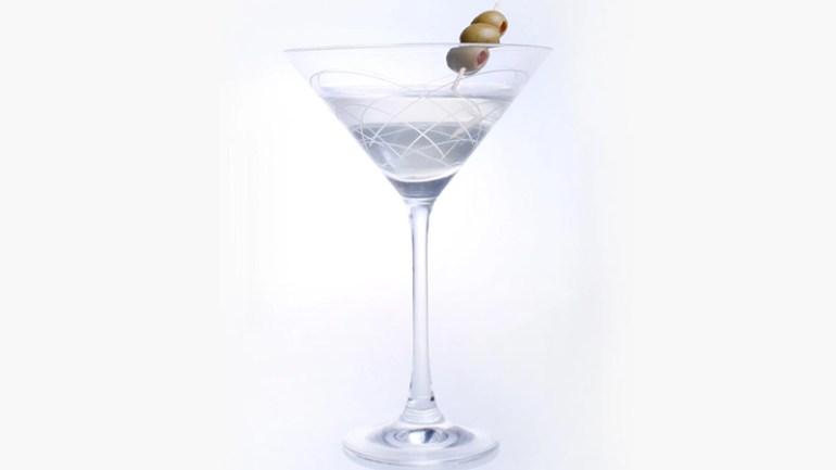 Diamond Etched Mid Century Modern Martini Glasses