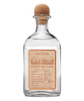Patron Estate Release Blanco is one of the 30 best tequilas of 2020.