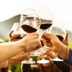 riends doing a wine tasting