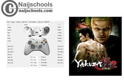 Yakuza Kiwami 2 X360ce Settings for PC Gamepad Controller   TESTED & WORKING